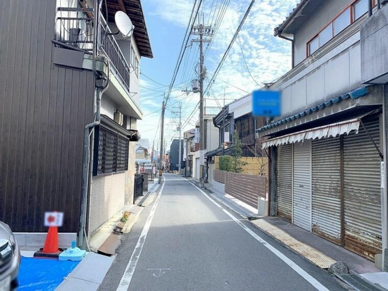 現況写真 現地前面道路写真 別角度(2021.2.1撮影)