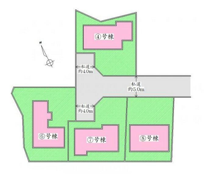 区画図 配置図 ゆとりの駐車スペース有