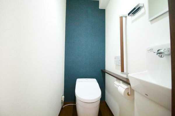 トイレ タンクレスタイプのウオシュレット付トイレ!手洗水栓付!