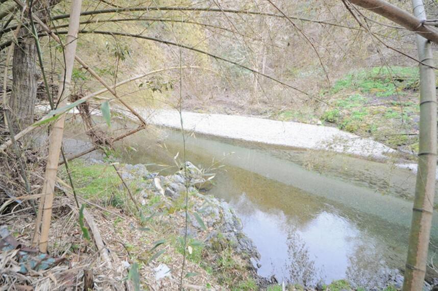 隣接の入間川。夏は川遊びに最適です。