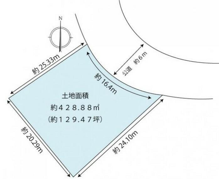 区画図 区画図 土地面積:約129.47坪