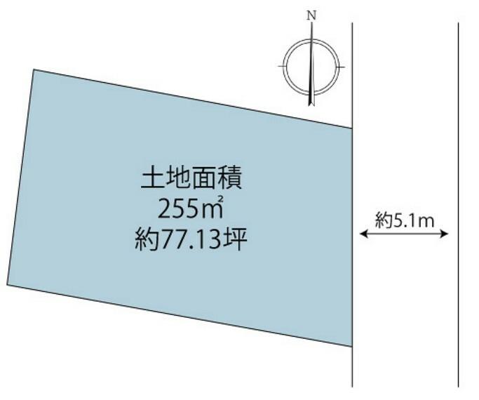 区画図 区画図 土地面積:約77.13坪