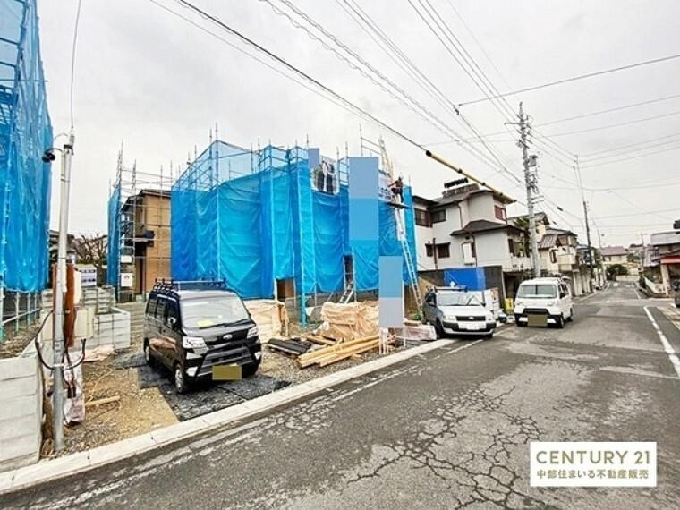 現況外観写真 みよし市【東山台】全4棟の新築分譲住宅。国に認められた長期優良住宅。税金面や火災保険などの優遇措置あり。地震に強い耐震等級3のお家です。