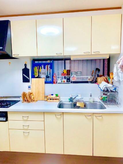 キッチン 自然光が入る窓のあるキッチン
