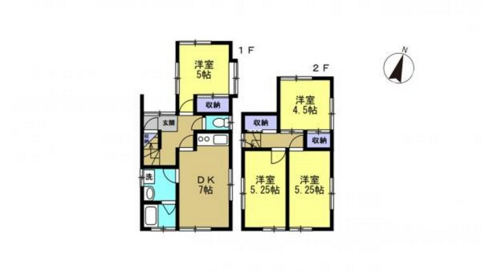間取り図 【リフォーム済】4DKの間取り。水回り新品交換して生まれ変わりました。既存和室はすべて洋室に変更しました。