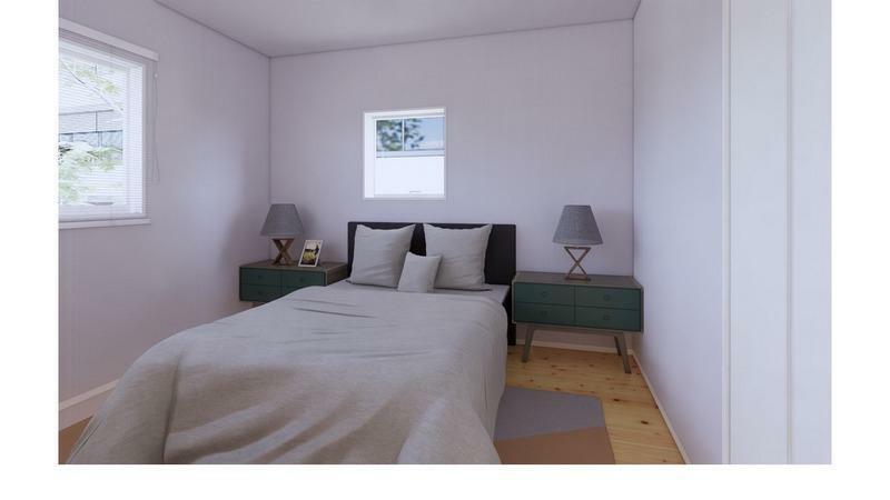 洋室 (施工事例)洋室:もちろん全部屋に無垢材を使用!木のぬくもりに包まれながら就寝できます