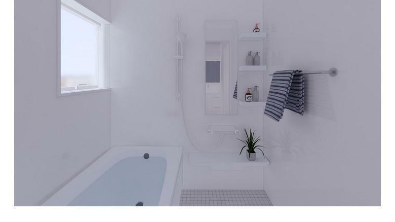 浴室 (施工事例)バスルーム:スタイリッシュなバスルーム
