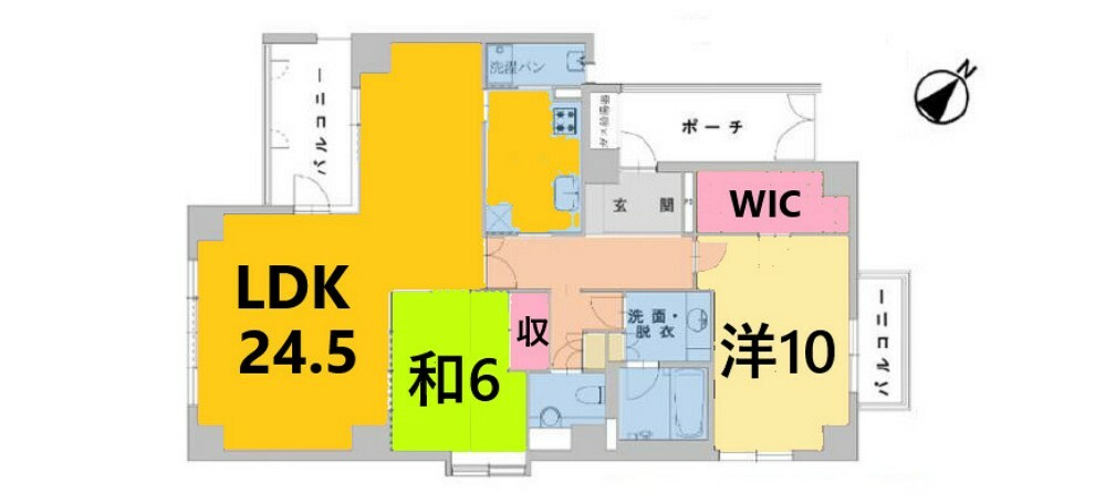 間取り図 専有面積:105.53平米、2LDK
