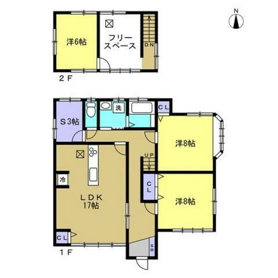 間取り図 【リフォーム後間取り図】これから間取り変更を行い、LDK作成、浴室1坪拡張などリフォームしていきます。お客様の住みやすさを考え、清潔で安心できるお家に生まれ変わりますよ。