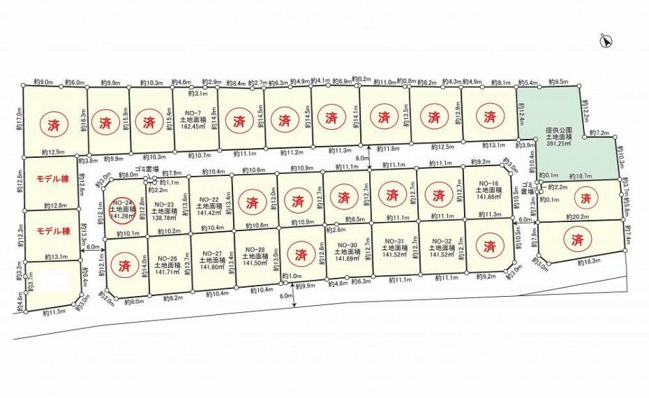 区画図 33区画の全体図です!