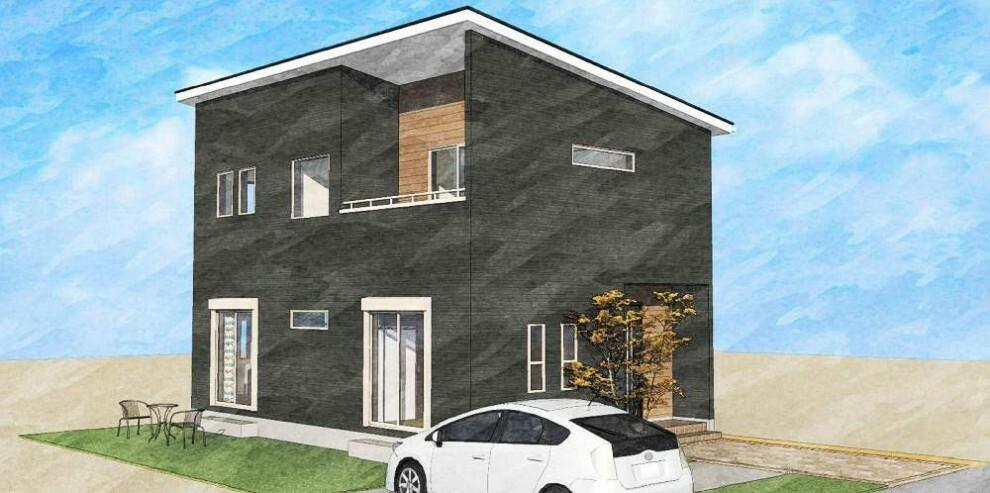 参考プラン完成予想図 建物参考イメージです。ブルックリンスタイルの場合。