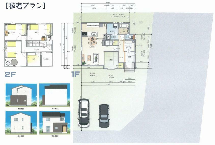 参考プラン間取り図 参考プラン例:3SLDK(3300万円)  高性能、低価格の家づくり! 基本性能にこだわり、夏は涼しく、冬は暖かいお家づくりを実現します。 お客様目線で暮らしやすい住宅をご提供しています!