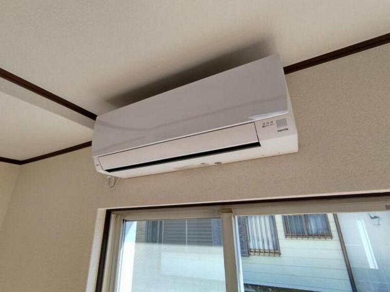 冷暖房・空調設備 【リフォーム済】1階南側洋室8帖のお部屋に設置したエアコンの写真です。寒暖差のある季節にはエアコンは欠かせませんね。