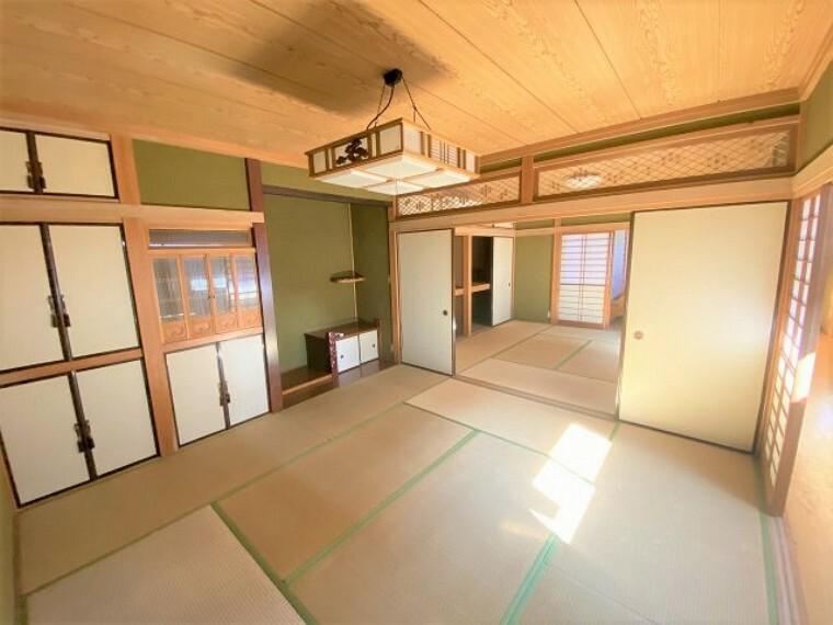 和室 和室 続き間を開ければ開放的にお使いになれますね