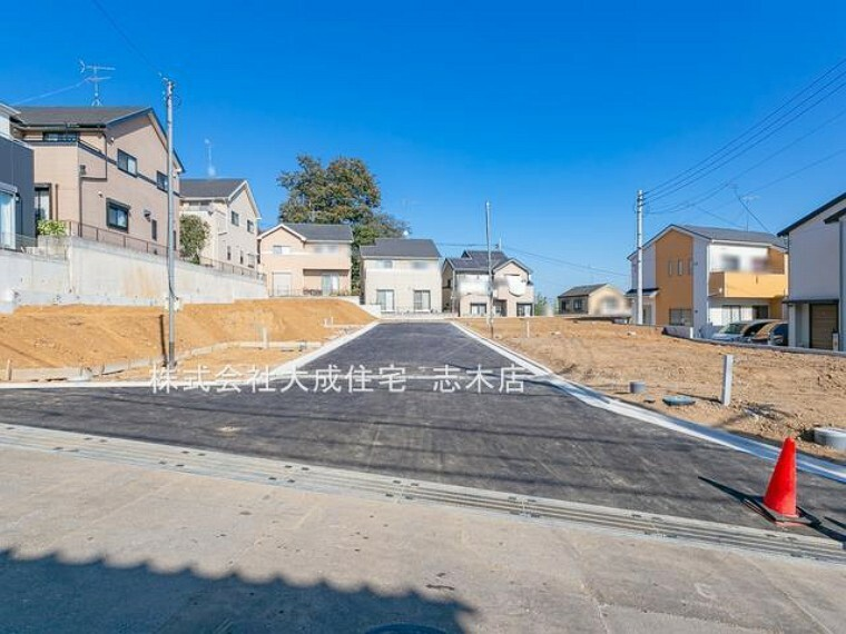 現況写真 前面道路 全8棟:現地写真2020年11月撮影