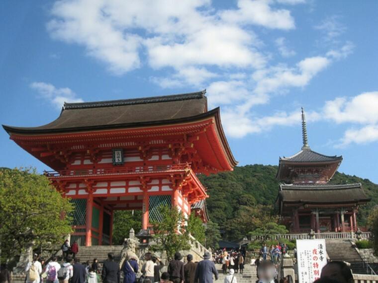 清水寺 多くの観光客で賑わう世界遺産。紅葉のライトアップも楽しめます。