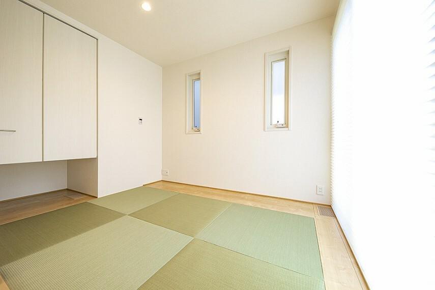 和室 No.47_和室(撮影_2021年5月)リビングと隣接した和室はテレワークスペースやキッズスペースとしても使えます。
