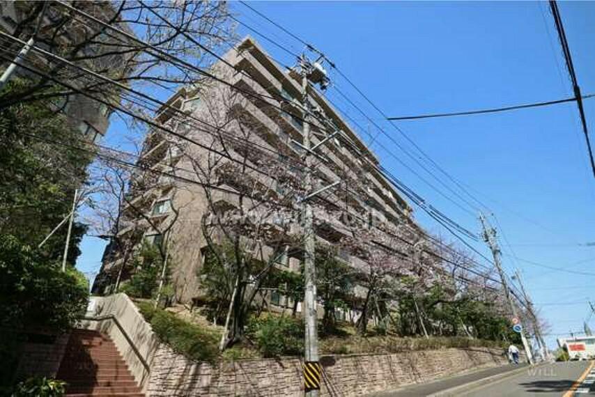 外観写真 サザンヒル八事1号棟のご紹介です!地下鉄名城線・鶴舞線「八事駅」徒歩7分のマンションです。