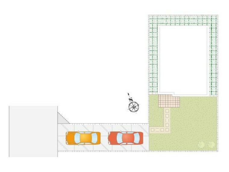 区画図 B号棟 配置図・・・お庭もありますのでガーデニングが趣味の方などにも嬉しいですね!