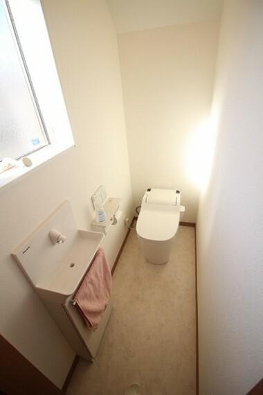 トイレ 手洗いキャビネット付き洗浄機能付きトイレ