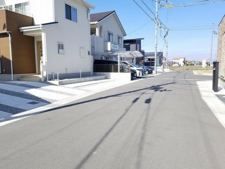 現況写真 前道は6m以上ありゆったりとした区画が広がる街並みです!