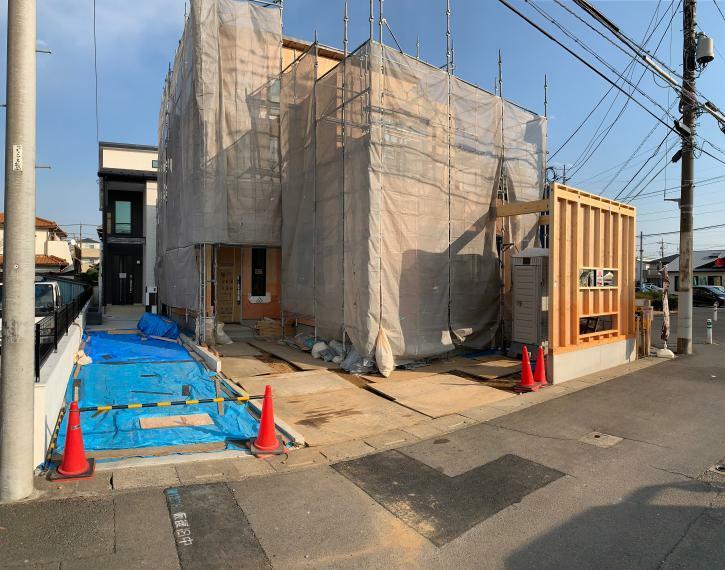 現況外観写真 A号棟 完成予定(2021年4月)