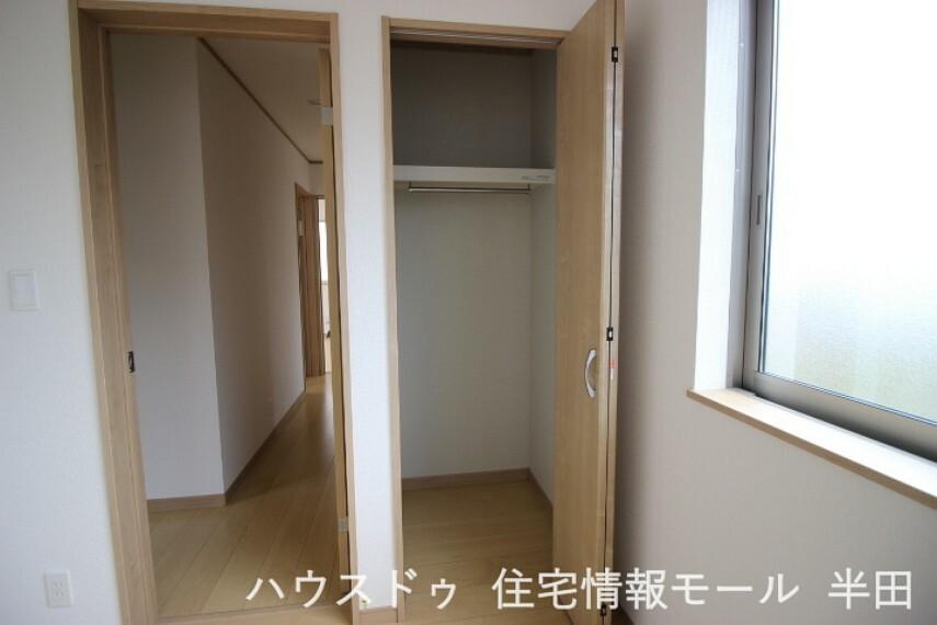 収納 2階4.5帖洋室物入 整理整頓に便利な物入付