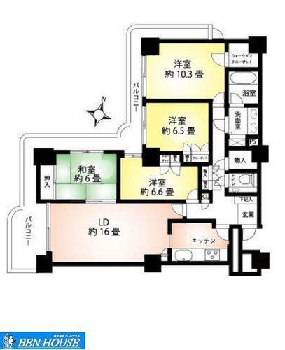 間取り図 ・9階部分の角部屋に位置し開放感たっぷり・全室に窓のある 採光たっぷりで風通りもよくいつでも換気できるお部屋です・各居室収納完備でどちらのお部屋もスッキリと利用できます・是非ご確認ください
