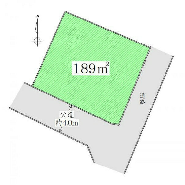 区画図 区画図 用途多彩な広々土地面積約57坪