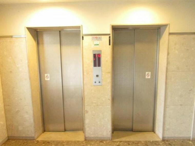 【建物設備写真】マンションエレベーターは2つあるので、待ち時間も短縮できますね。
