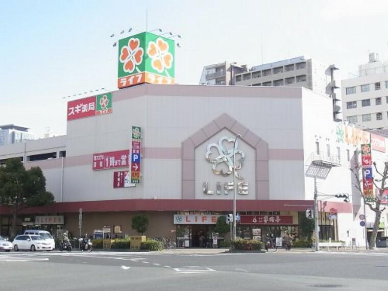 スーパー 【スーパー】ライフ神戸駅前店まで700m