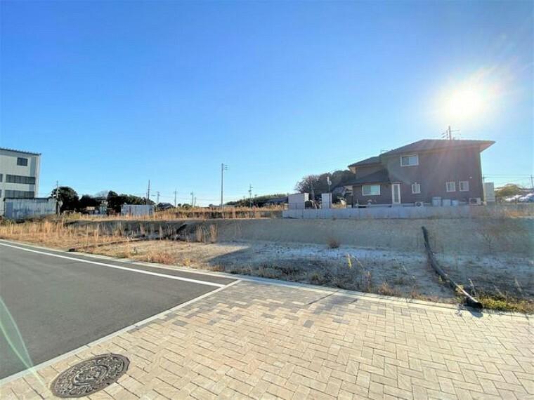 現況写真 敷地面積は55坪超!建築プランをたてやすい広さです