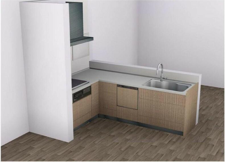 完成予想図(内観) 【キッチンイメージ】小さいお子さんがいるご家庭に嬉しい、除菌洗浄機能を搭載した食器洗浄乾燥機付き!