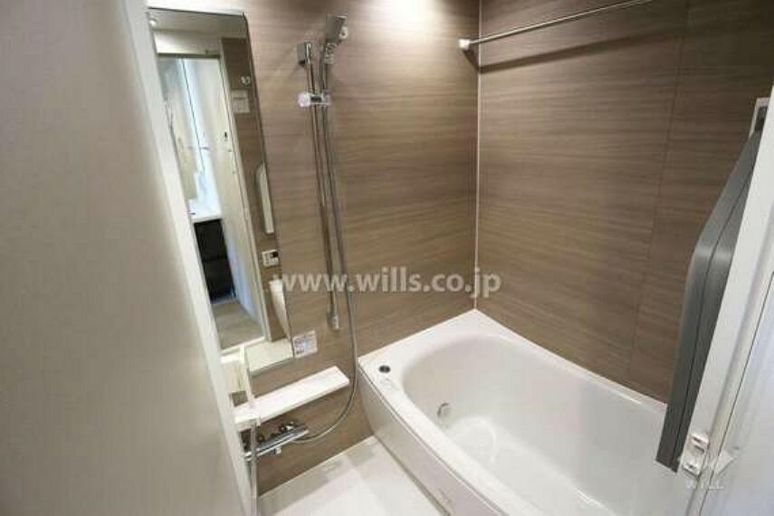 浴室 浴室。未使用なのでもちろん綺麗ですし、サイズも広いです。[2021年2月11日撮影]