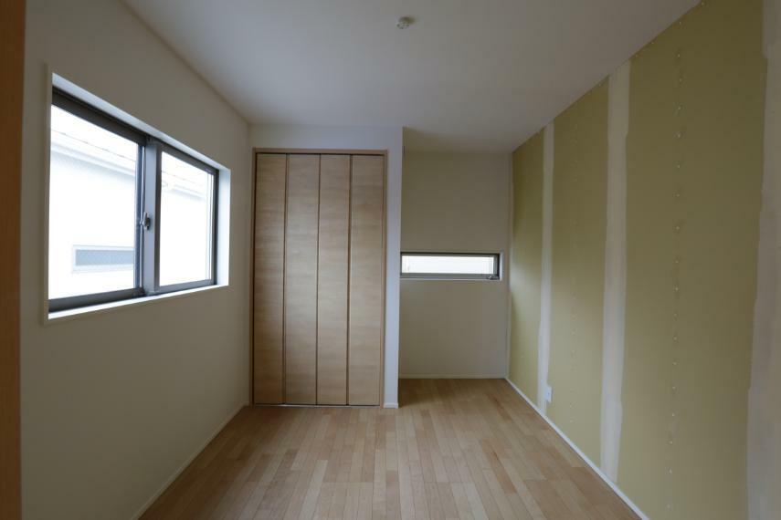 洋室 明るい洋室。お好きなクロスをお選び頂けます。(クロス未施工)(3号棟)