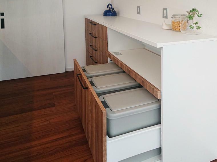 キッチン 収納タイプのダストボックス付きです!