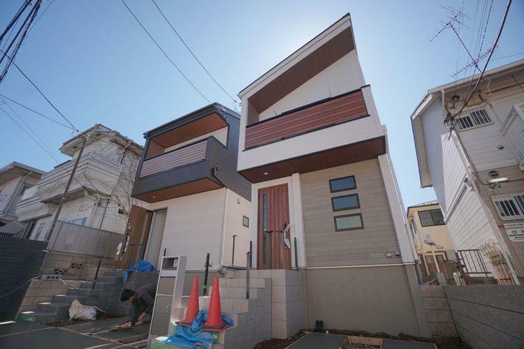 現況写真 杉並区松ノ木1丁目の新築戸建。光と気持ちの良い風が室内を通るお家になります。