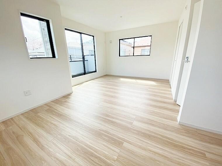 寝室 北東側洋室5.2帖と南東側洋室7帖はつなげて使用できます。