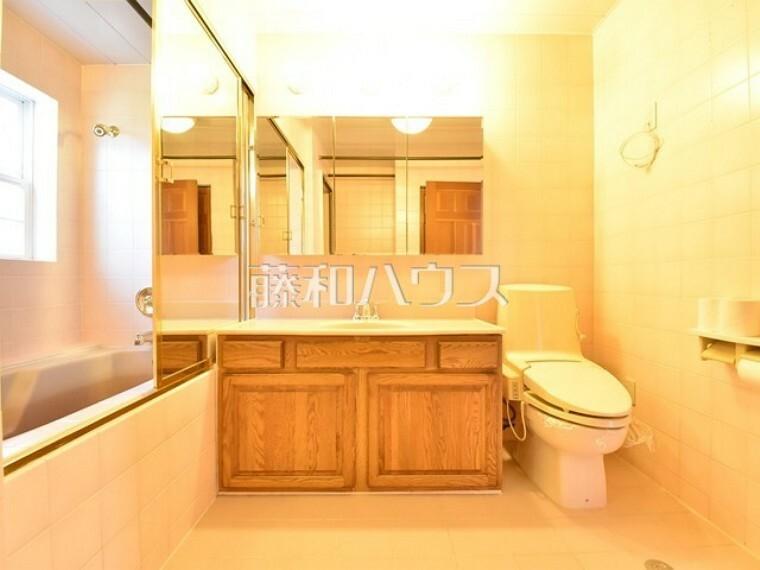 浴室 洗面室(左に浴室) 【清瀬市中里2丁目】