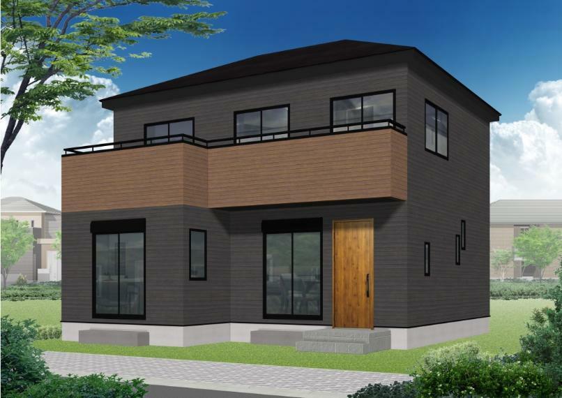 完成予想図(外観) 南側には大きな窓!陽の光が差し込み、明るいお家!