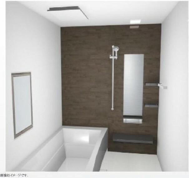 完成予想図(内観) (A棟完成予想図)シャワーフックを上下にスライドできます。