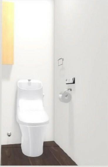 完成予想図(内観) (A棟完成予想図)強力な水流が便器鉢内のすみずみまで回り、少ない水でもしっかり汚れを洗い流します。