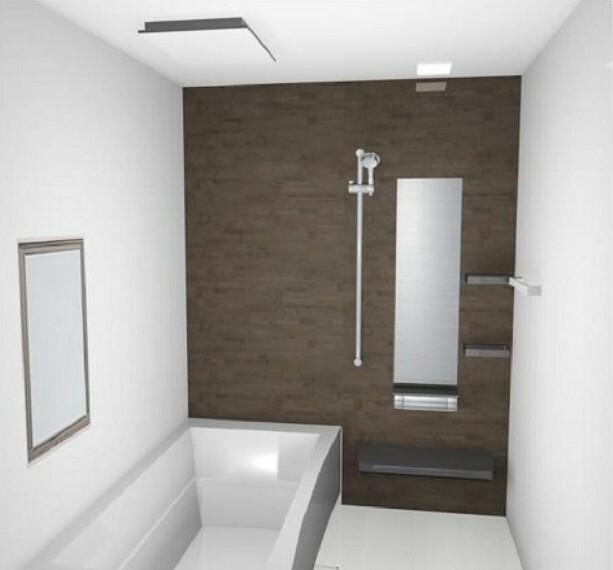 完成予想図(内観) (内装イメージ/浴室)冷めにくい高断熱浴槽!お手入れ簡単で清潔な高品位ホーローの壁を採用!