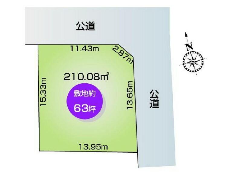 区画図 古河市関戸 E号地 区画図・・・人気のある角地です!