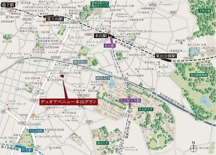 土地図面 広域MAP