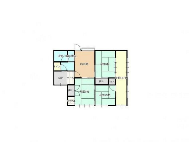 区画図 【リフォーム前/間取り】間取り変更により暮らしやすいお家になりました。