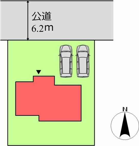 区画図 (区画)並列4台駐車可能!お子様が車を持った時や来客時も安心です!