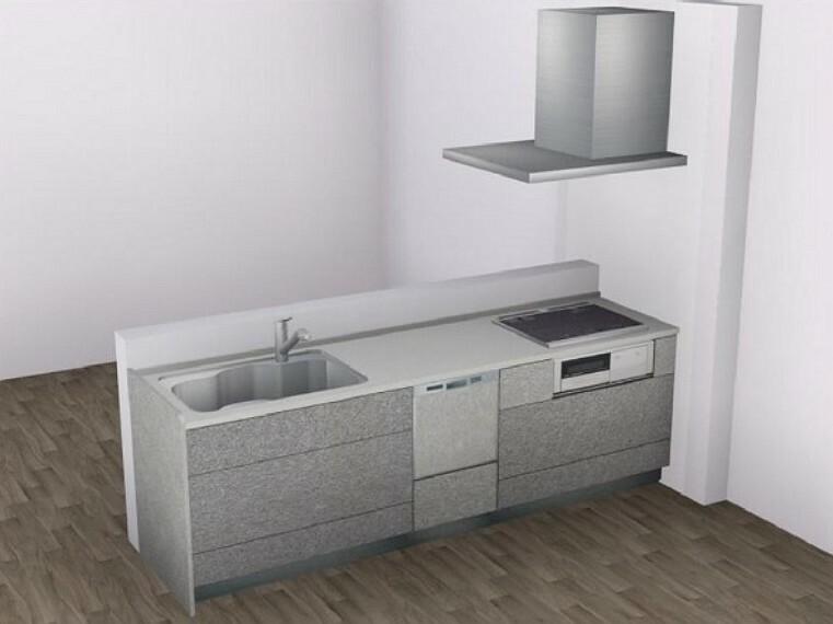 完成予想図(内観) 【Aキッチン】手荒れ対策にも嬉しい、食器洗い乾燥機付き。浄水器内臓タイプの水栓です。