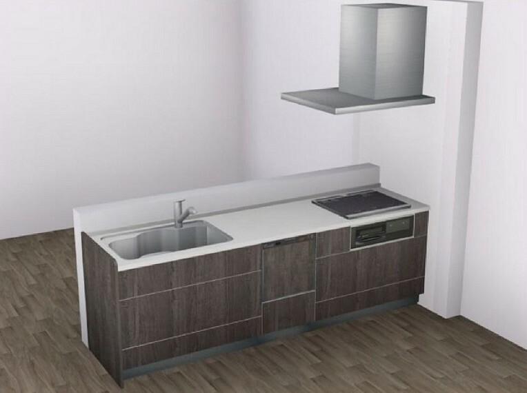 完成予想図(内観) 【Bキッチン】手荒れ対策にも嬉しい、食器洗い乾燥機付き。浄水器内臓タイプの水栓です。
