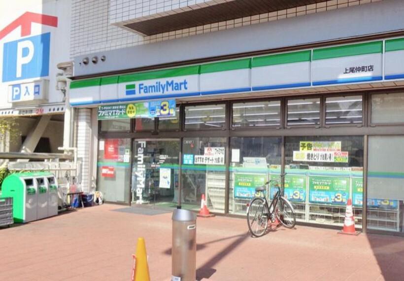 コンビニ 【コンビニエンスストア】ファミリーマート 上尾仲町店まで621m